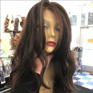 Accessories - Fulllace Wig Brown mix wavy long 2019 New style